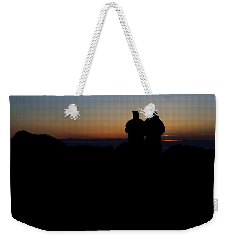 Maine Weekender Tote Bag featuring the photograph Sunrise With Me by Rick Berk