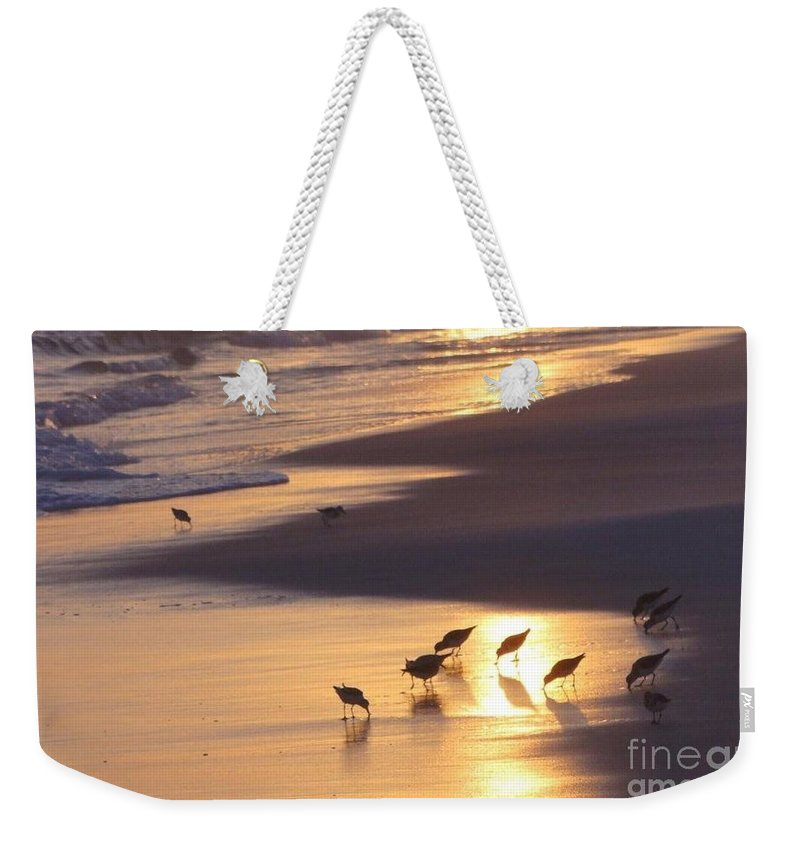 Nature Weekender Tote Bag featuring the photograph Sunset Beach by Nava Thompson