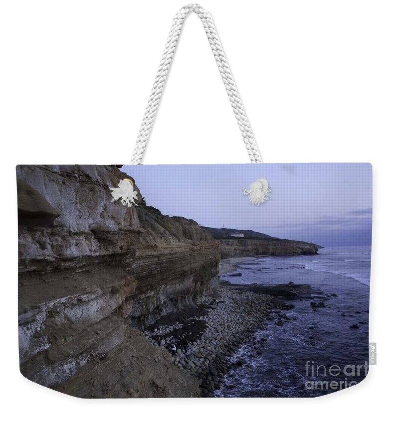 Sunset Cliffs Weekender Tote Bag featuring the photograph Sunset Cliffs by Priscilla Monger