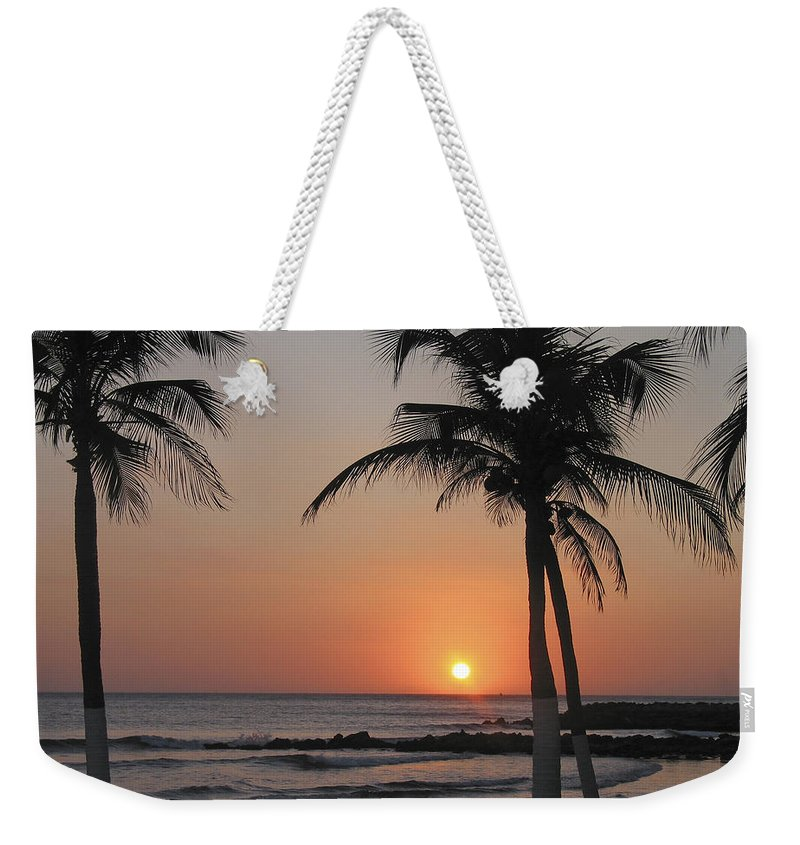 Columbia Weekender Tote Bag featuring the photograph Sunset by David Gleeson