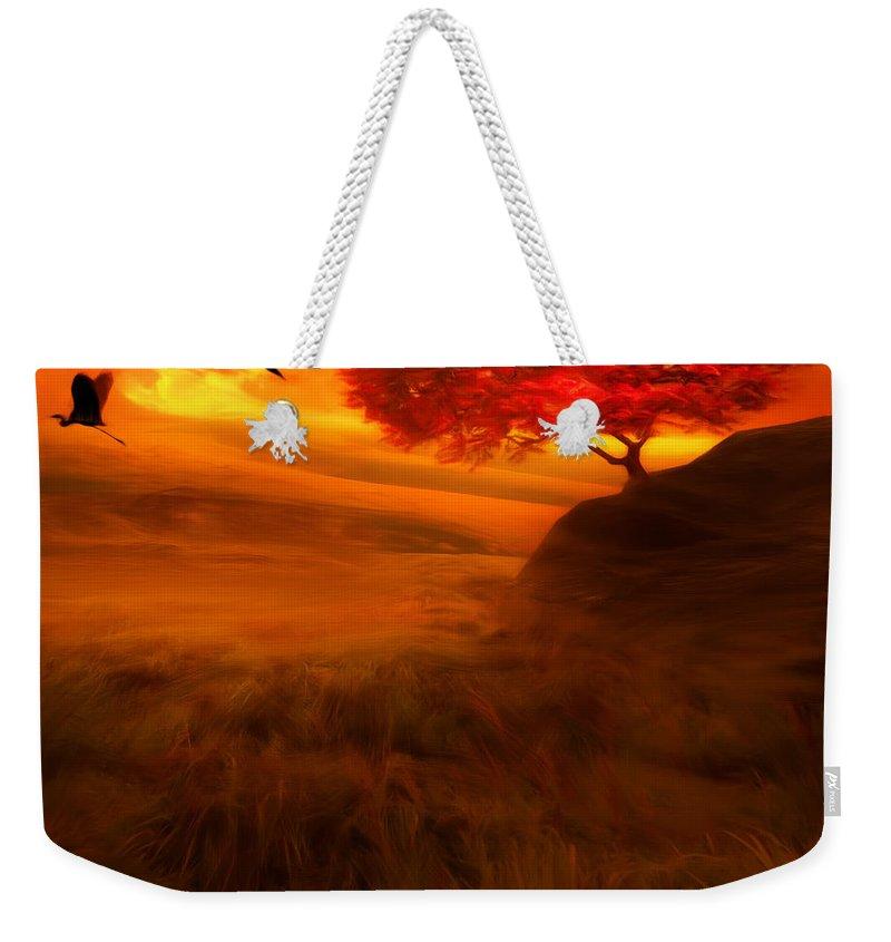 Sandhill Crane Weekender Tote Bags