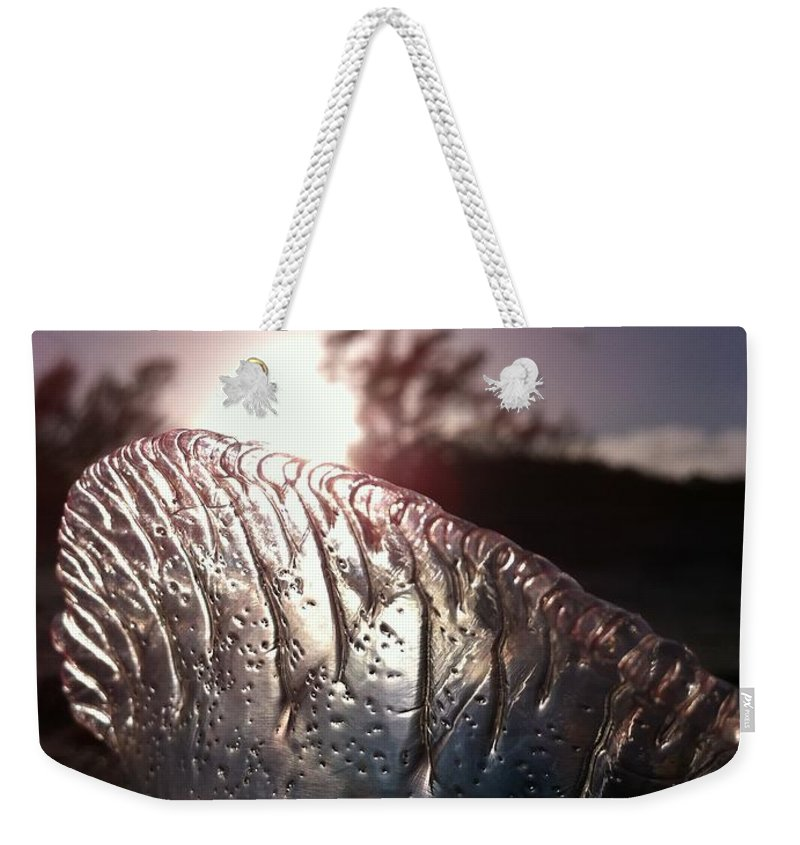 Sun Weekender Tote Bag featuring the photograph Sunset For Man-o-war by Kimberly Mohlenhoff