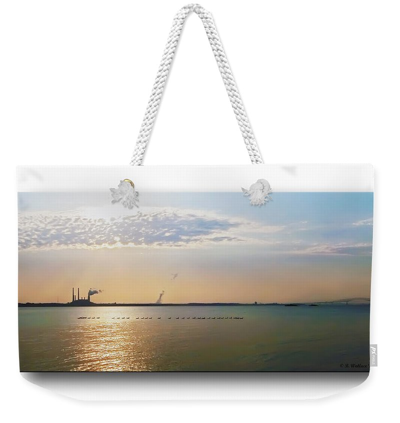 2d Weekender Tote Bag featuring the photograph Sunset Geese by Brian Wallace