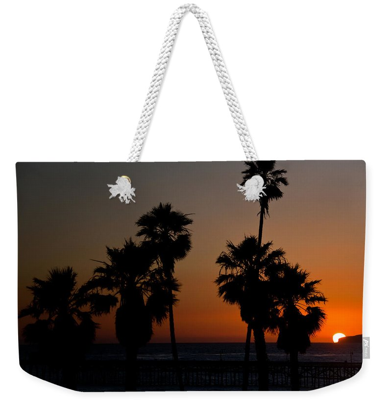 San Clemente Weekender Tote Bag featuring the photograph sunset in Califiornia by Ralf Kaiser
