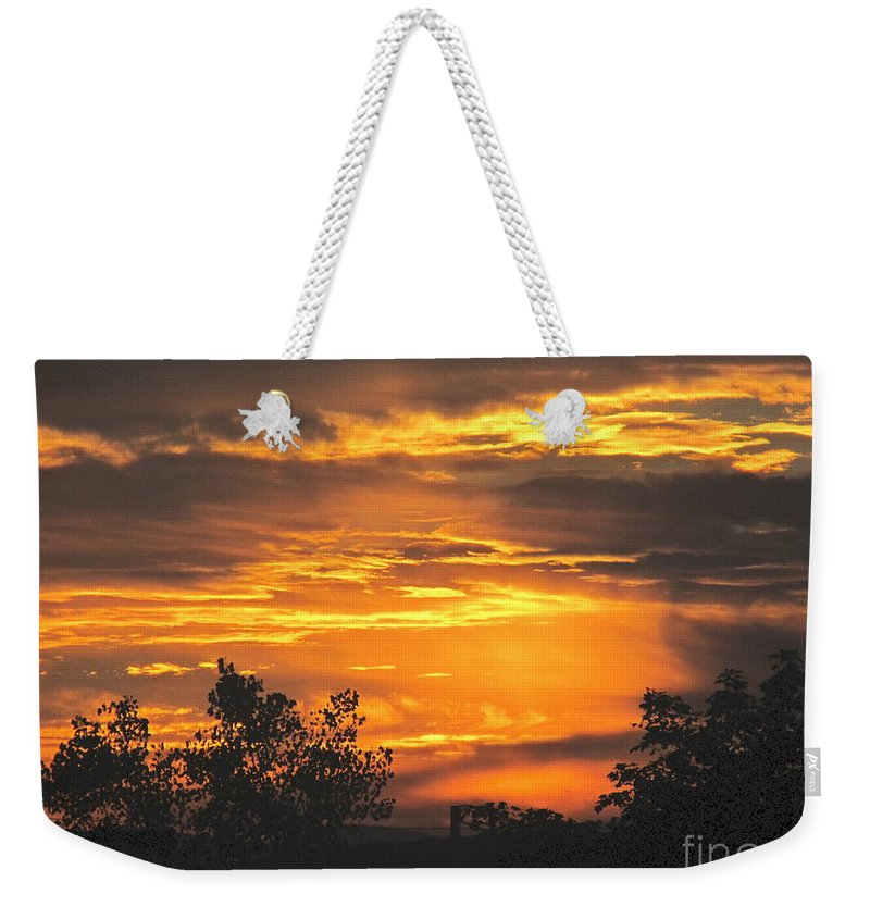 Sunset Weekender Tote Bag featuring the photograph Sunset by Jeannie Kohut
