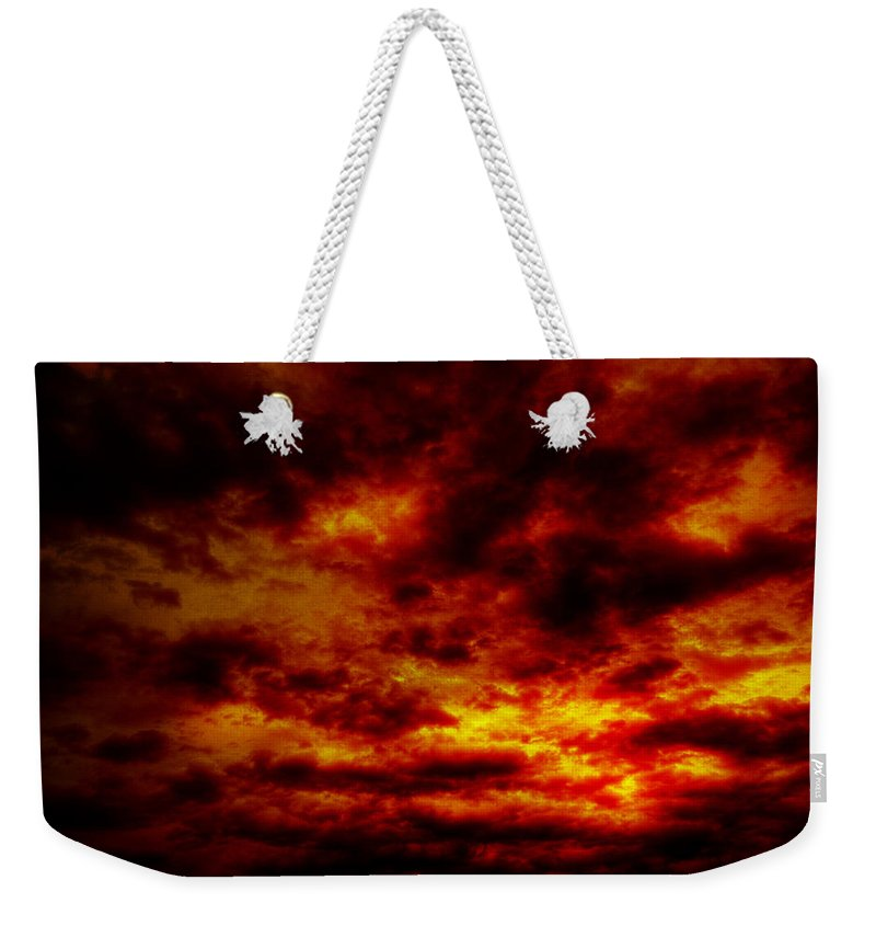 Acrylic Prints Weekender Tote Bag featuring the photograph Sunset by John Herzog