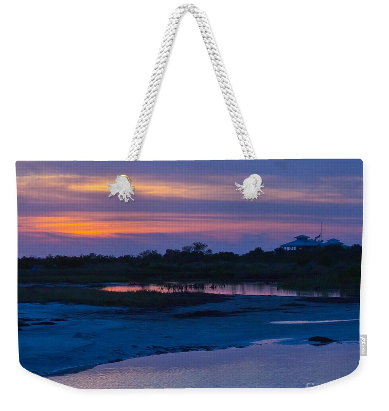 Sunset Weekender Tote Bag featuring the photograph Sunset On Honeymoon Island by Stephen Whalen