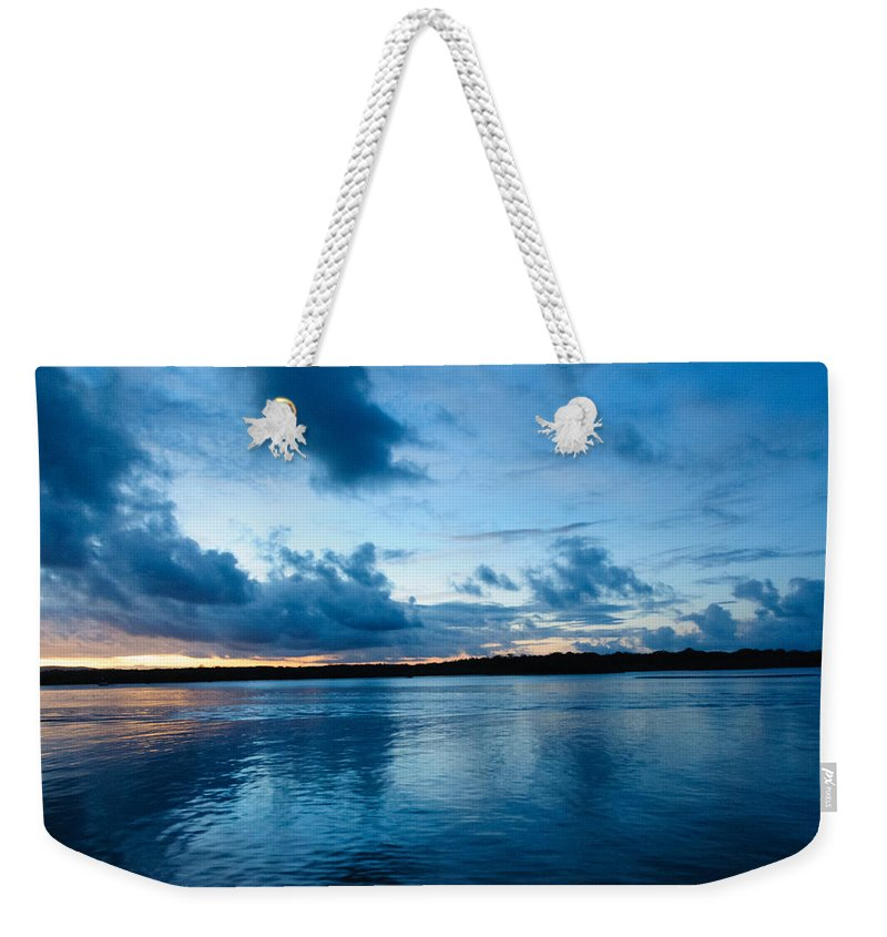Sunset Weekender Tote Bag featuring the photograph Sunset On Noosa River by John White