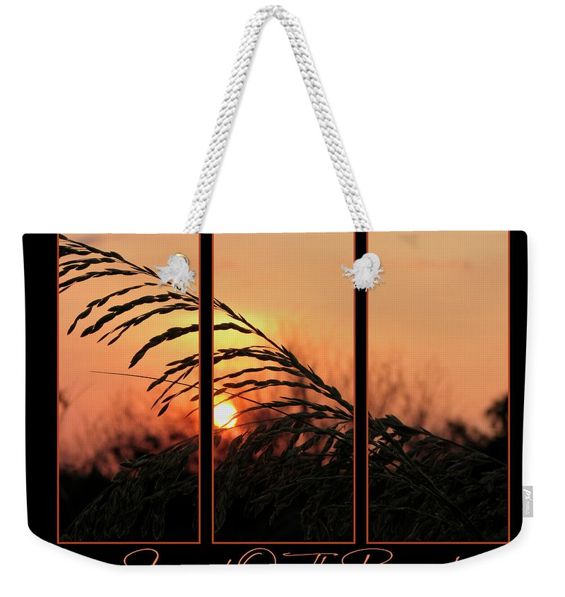 Sunset On Beach Weekender Tote Bag featuring the photograph Sunset On The Beach by Carolyn Marshall
