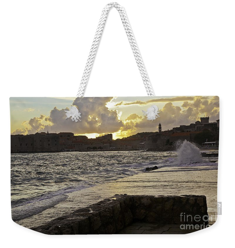 Sun Weekender Tote Bag featuring the photograph Sunset Over Dubrovnik 2 by Madeline Ellis