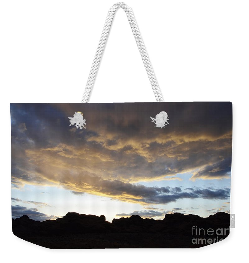 Sunset Weekender Tote Bag featuring the photograph Sunset Valley Of Fire by Bob Christopher