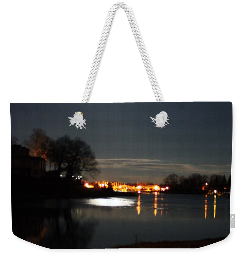 Connecticut Weekender Tote Bag featuring the photograph Super Moon Night  2 by Mark Ashkenazi