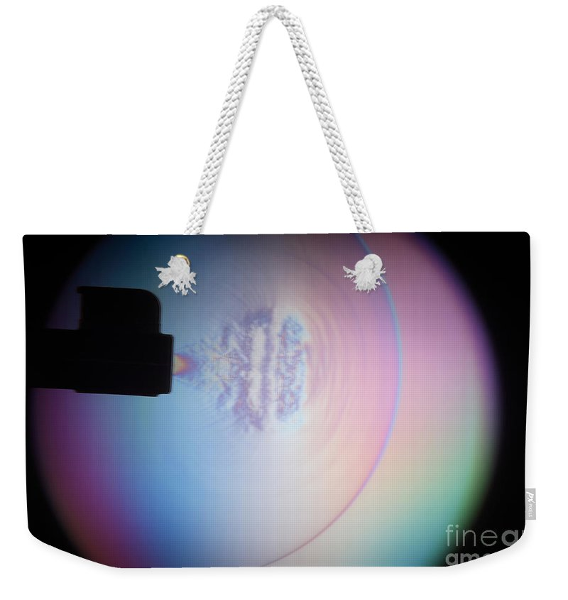 High-speed Photography Weekender Tote Bag featuring the photograph Supersonic Shockwave by Ted Kinsman