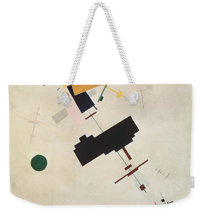 Suprematisme; Suprematism; Abstract; Constructivist; Geometric Weekender Tote Bag featuring the painting Suprematist Composition No 56 by Kazimir Severinovich Malevich