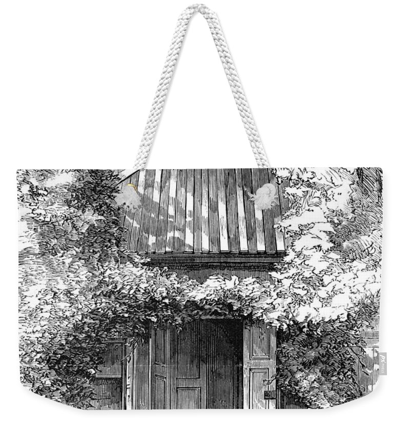 18th Century Weekender Tote Bag featuring the photograph Swedenborgs Cottage by Granger