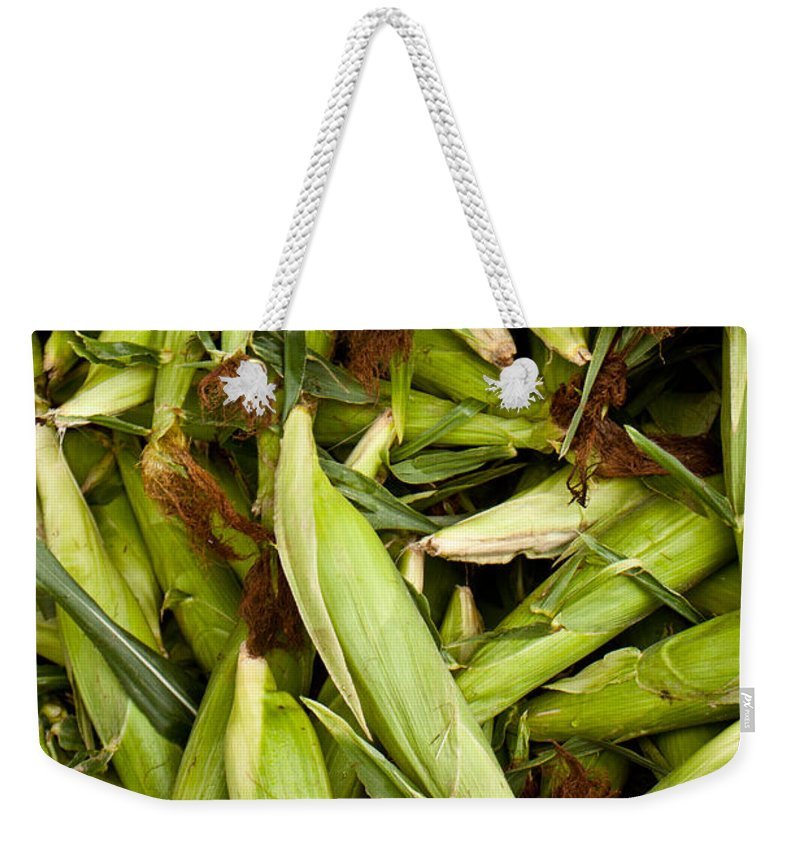 Corn Weekender Tote Bag featuring the photograph Sweet Corn by Lauri Novak