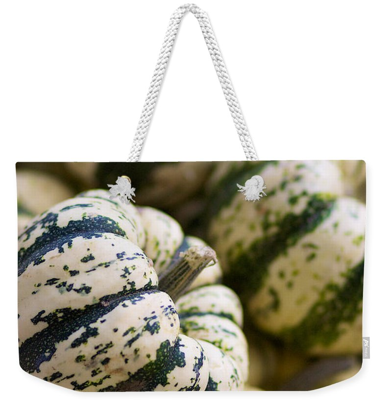 Sweet Dumpling Weekender Tote Bag featuring the photograph Sweet Dumpling Squash by Brooke Roby