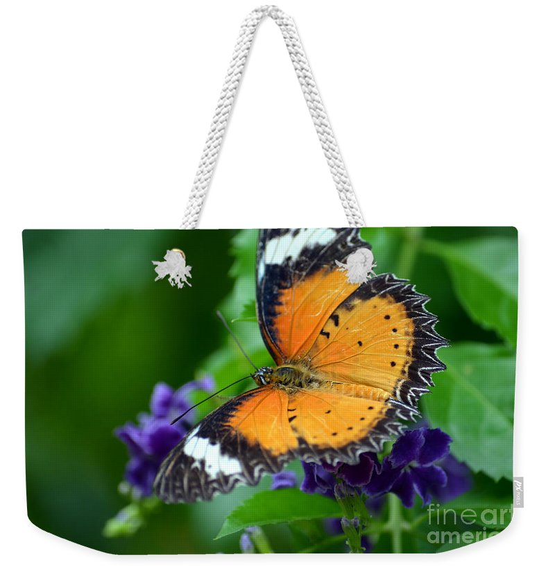 Butterfly Weekender Tote Bag featuring the photograph Sweet Nectar by Richard Ortolano