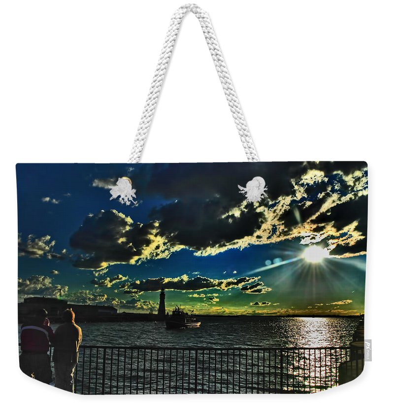 Weekender Tote Bag featuring the photograph Sweet Romance by Michael Frank Jr