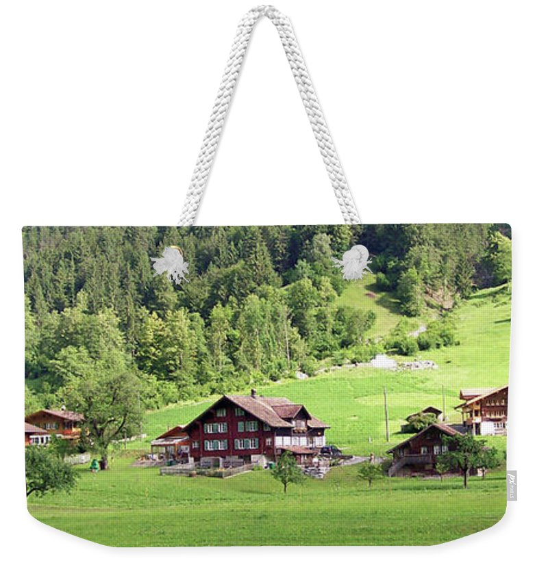 Europe Weekender Tote Bag featuring the photograph Swiss Village In The Alps by Greg Plamp