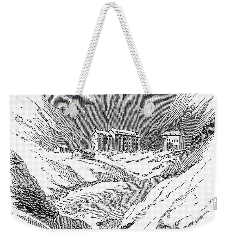 1843 Weekender Tote Bag featuring the photograph Switzerland: Convent, 1843 by Granger