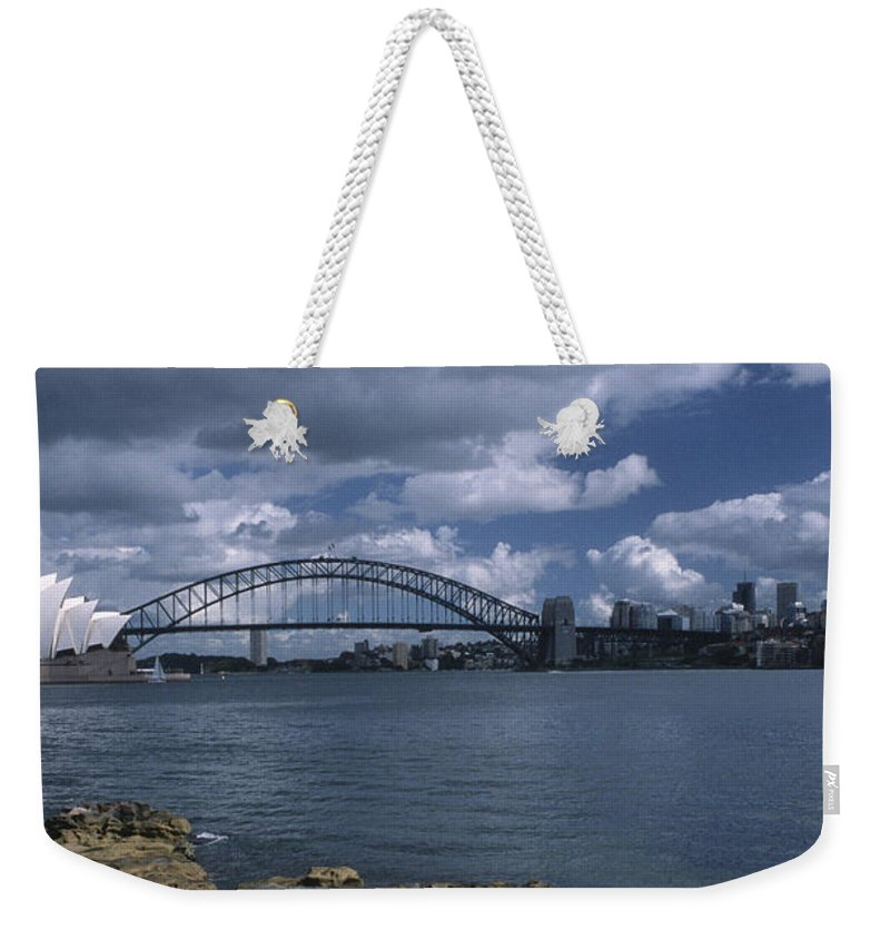 Sandra Bronstein Weekender Tote Bag featuring the photograph Sydney Harbor Australia by Sandra Bronstein