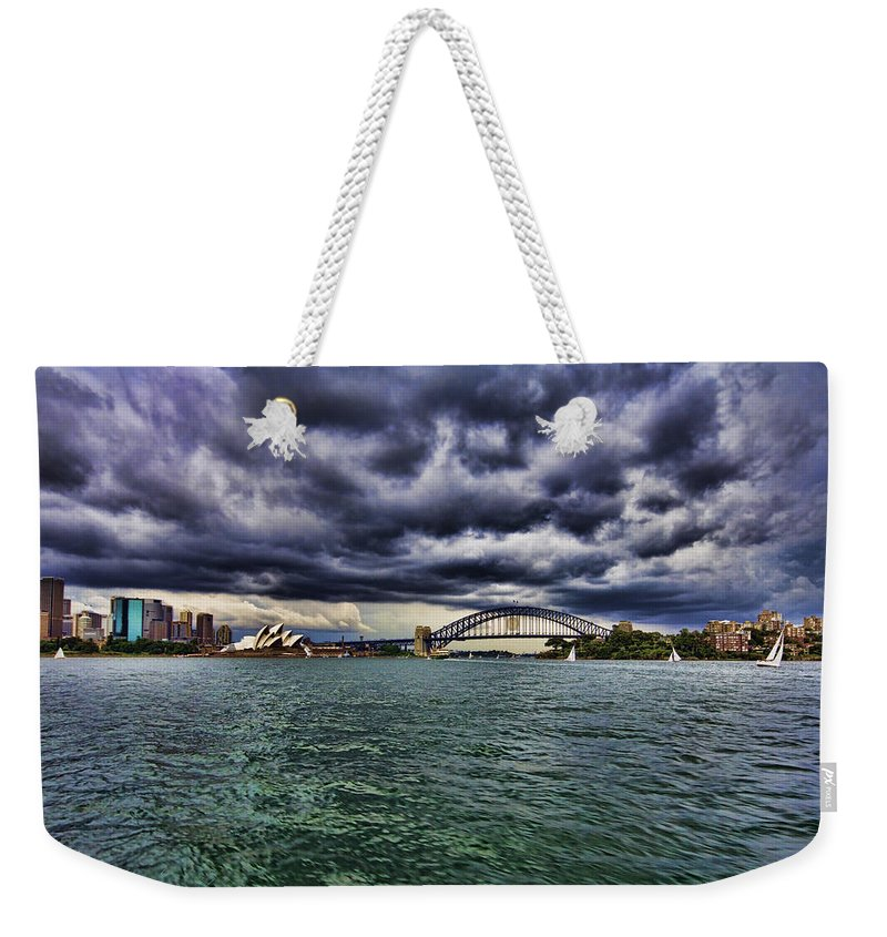 Sydney Opera House Weekender Tote Bag featuring the photograph Sydney Symphony by Douglas Barnard