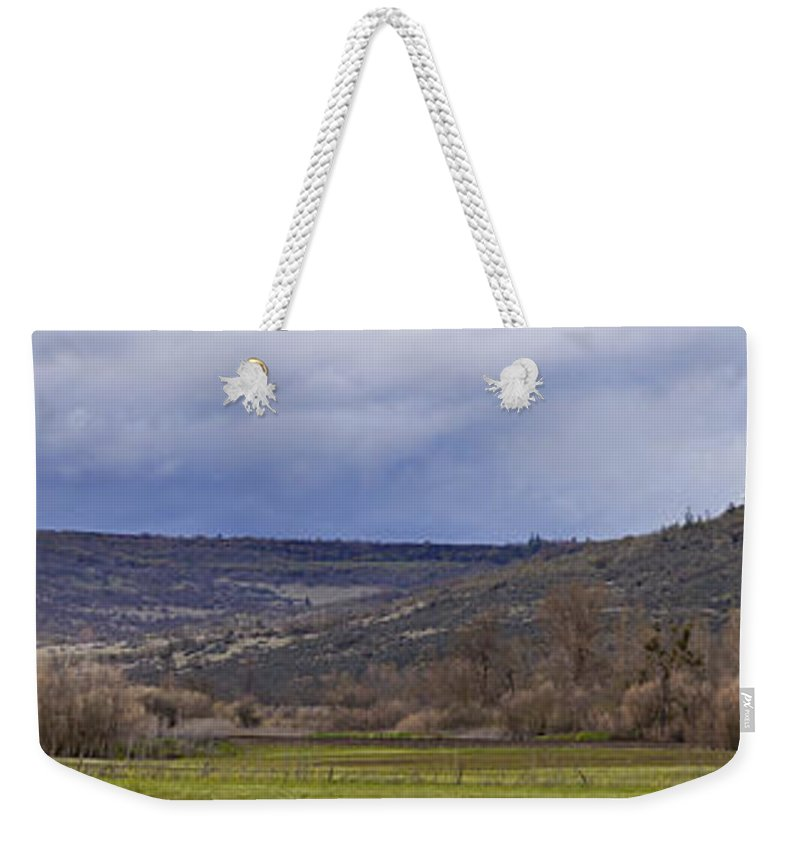 Tabletop Weekender Tote Bag featuring the photograph Tabletop Panorama by Mick Anderson