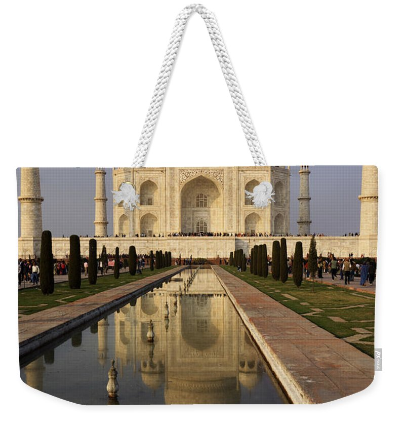 Agra Weekender Tote Bag featuring the photograph Taj Mahal Reflection by Ivan Slosar