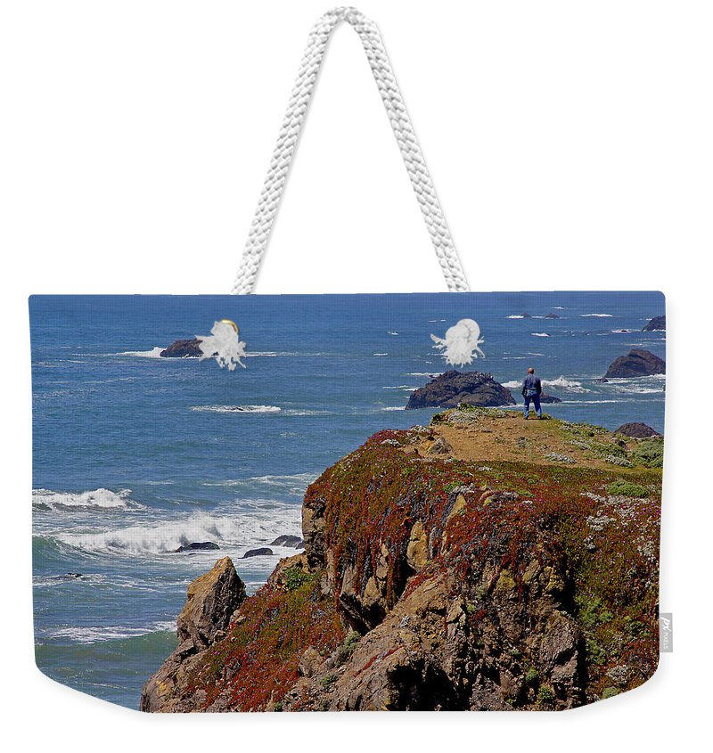 Highway 1 Weekender Tote Bag featuring the photograph Taking In The View by Mick Anderson