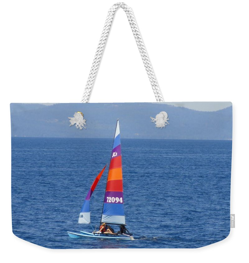 Sail Weekender Tote Bag featuring the photograph Tall Sail by Shannon Grissom
