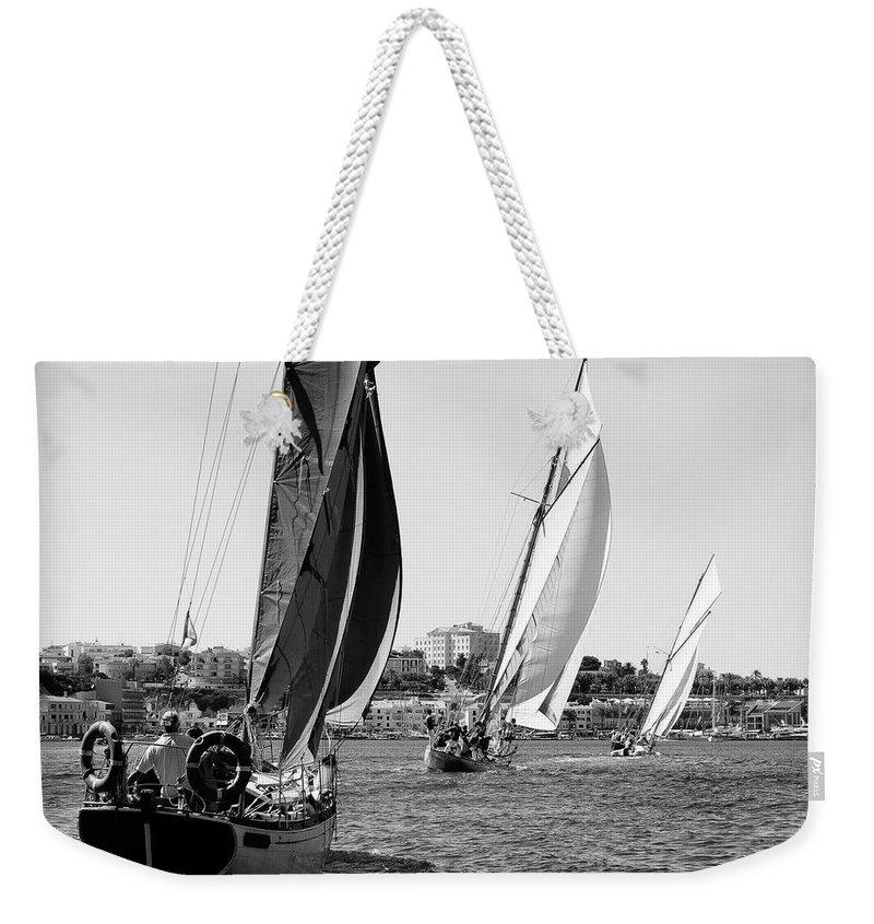Tall Ship Weekender Tote Bag featuring the photograph Tall Ship Races 2 by Pedro Cardona Llambias