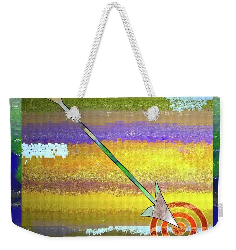 Target Weekender Tote Bag featuring the digital art Target by Gwyn Newcombe