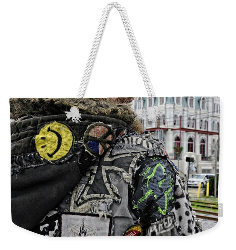 Tattoo Weekender Tote Bag featuring the photograph Tattoos And Patches by Kathleen K Parker