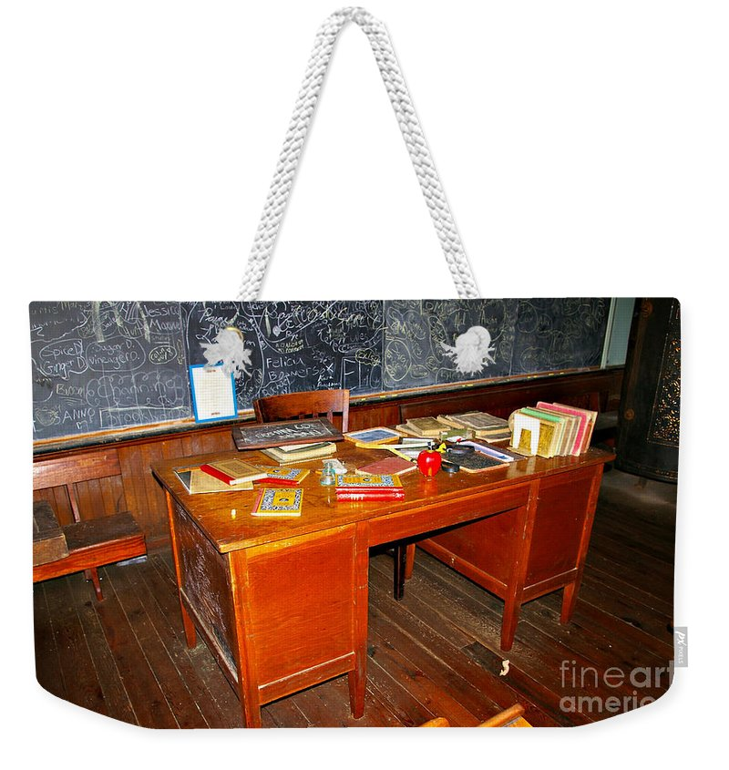 School Weekender Tote Bag featuring the photograph Teacher's Desk by Rich Walter