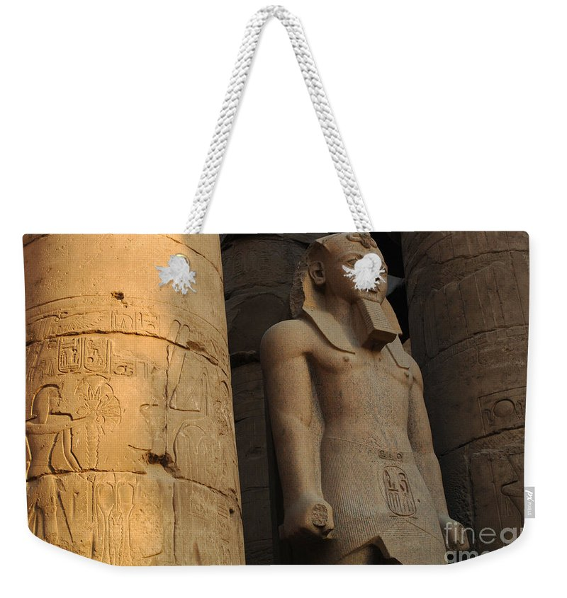 Egypt Weekender Tote Bag featuring the photograph Temple Of Luxor Egypt by Bob Christopher