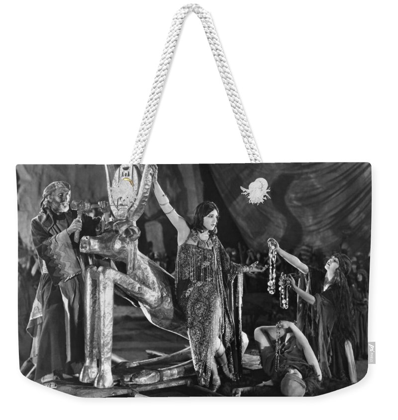 -natives- Weekender Tote Bag featuring the photograph Ten Commandments, 1923 by Granger