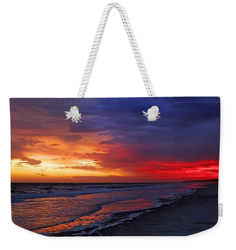 Beach Weekender Tote Bag featuring the photograph Ten Minutes On The Beach by Phill Doherty