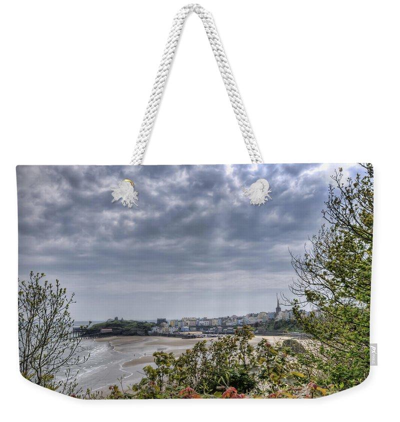 Enby Pembrokeshire Weekender Tote Bag featuring the photograph Tenby Pembrokeshire by Steve Purnell