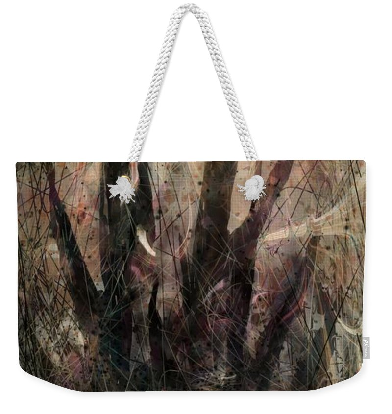 Landscape Weekender Tote Bag featuring the digital art Tequila Sunrise by William Russell Nowicki