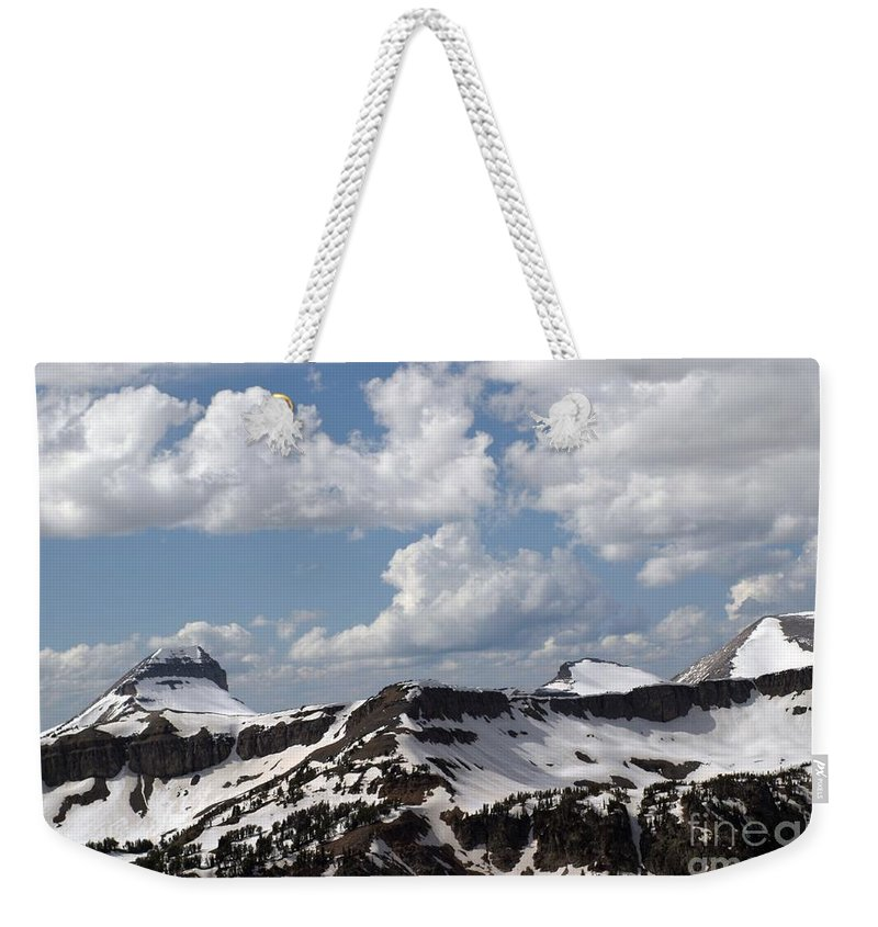 Rendezvous Mountain Weekender Tote Bag featuring the photograph Teton Range by Living Color Photography Lorraine Lynch