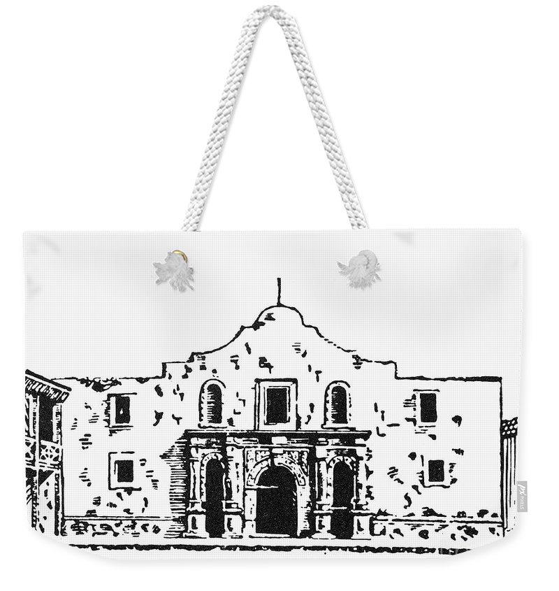 1836 Weekender Tote Bag featuring the photograph Texas: The Alamo by Granger