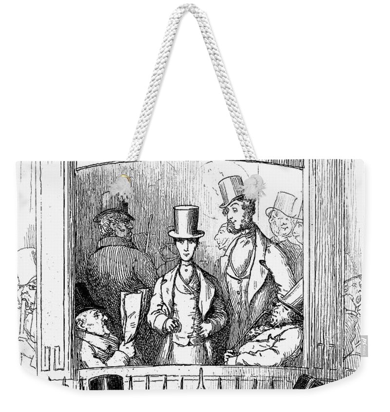 1855 Weekender Tote Bag featuring the photograph Thackeray: Newcomes, 1855 by Granger
