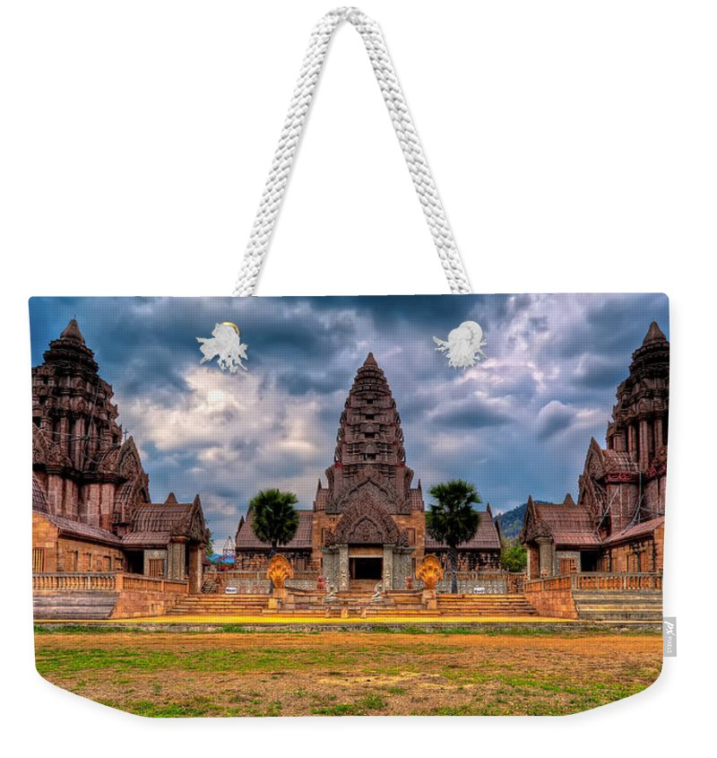 Architecture Weekender Tote Bag featuring the photograph Thai Temple by Adrian Evans
