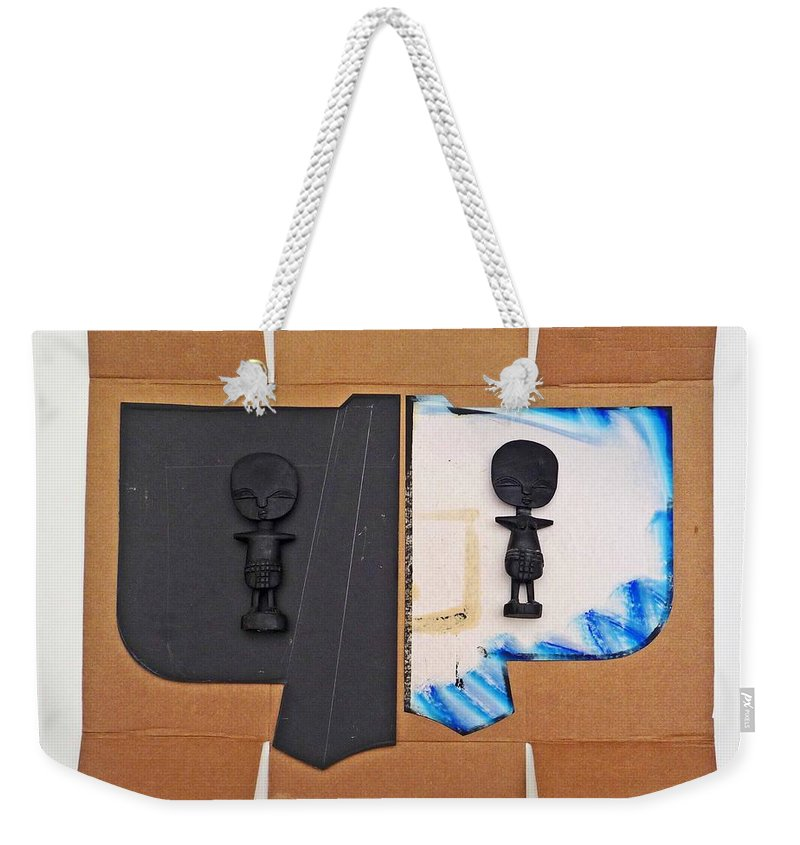 Kimono Weekender Tote Bag featuring the painting The African Kimono by Charles Stuart