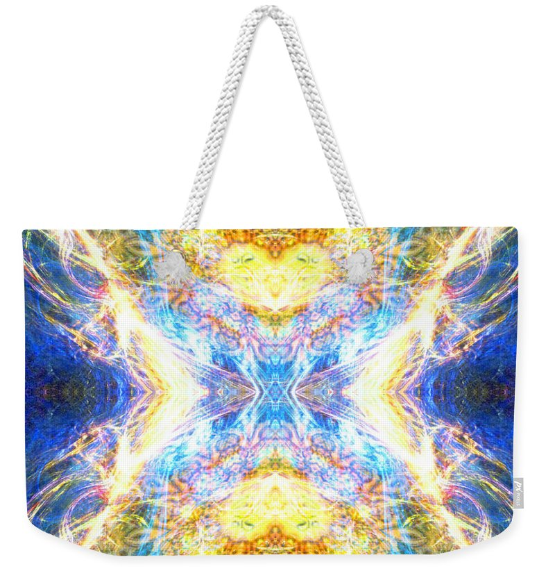 Angel Weekender Tote Bag featuring the digital art The Angel Of Clearing by Diana Haronis