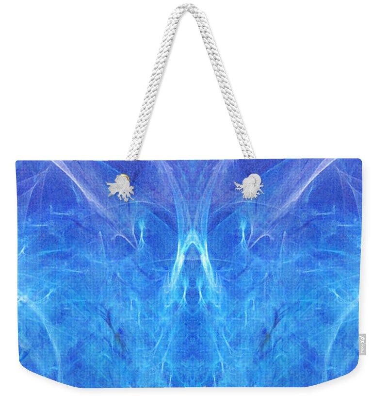 Angel Weekender Tote Bag featuring the digital art The Angel Of Grace by Diana Haronis