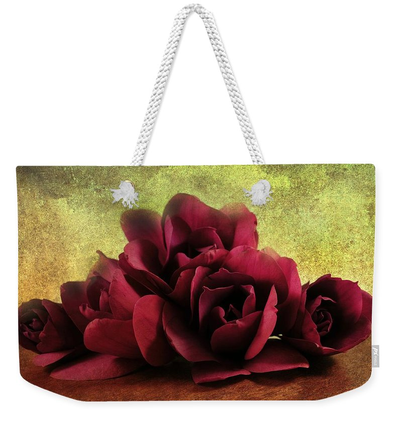 Magnolia Weekender Tote Bag featuring the photograph The Artists Palette by Georgiana Romanovna