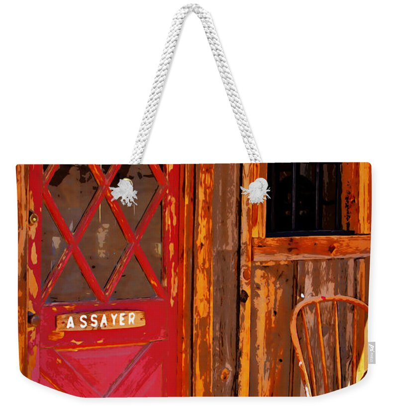 Assay Office Weekender Tote Bag featuring the photograph The Assay Office Digital Art by Phyllis Denton