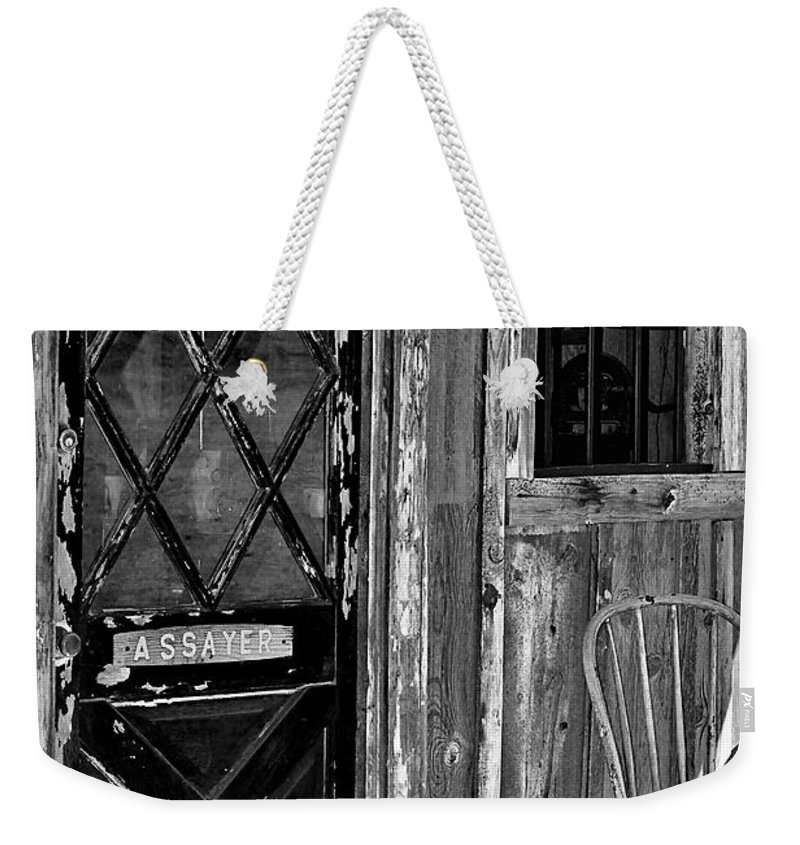 Assay Office Weekender Tote Bag featuring the photograph The Assay Office by Phyllis Denton